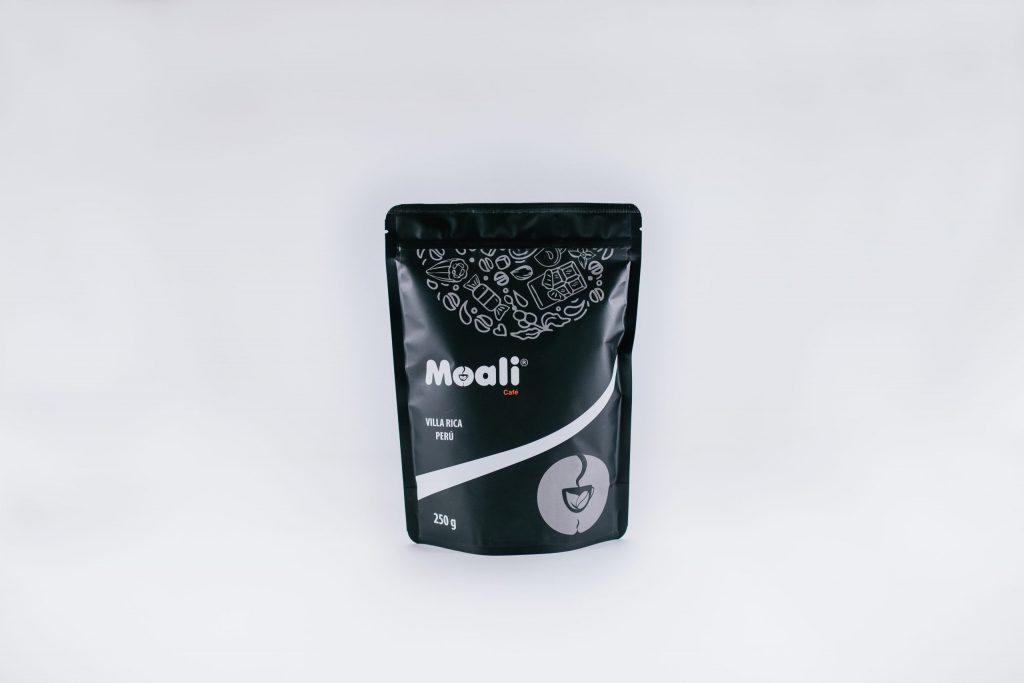 Foto de Café tostado y molido Moali notas chocolate y caramelo 250g.