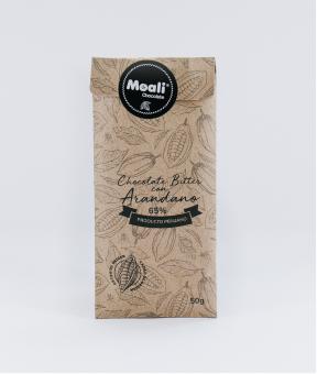 Foto de Chocolate Moali 65% CACAO con Arándanos 50g.