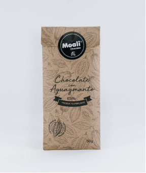 Foto de Chocolate Moali 65% CACAO con Aguaymanto 50g.