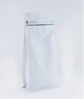 Foto de Bolsa sello de ocho lados blanco con zipper de 250g