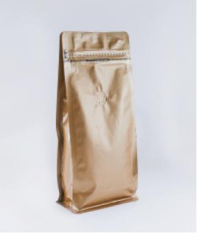 Foto de Bolsa sello de ocho lados kraff con zipper de 250g