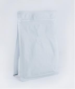 Foto de Bolsa sello de ocho lados blanco con zipper de 150g