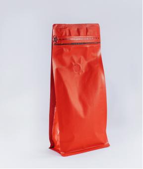 Foto de Bolsas sello de ocho lados rojo con zipper de 250g