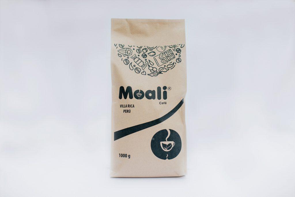Foto de Café tostado y molido Moali con notas chocolate y caramelo 1000 g.